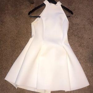 White halter scuba dress